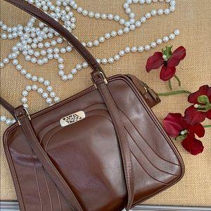 VINTAGE LEATHER BROWN BAG